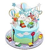 Joyoldelf Cake Toppers Auto Kuchendekoration Spielzeug Tortendekoration Einhorn Junge Geburtstag Dekoration Junge Geburtstagsgeschenk für Geburtstag/Hochzeit/Feiertag/andere Party