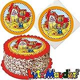 Tortenaufleger * Bagger & Baustelle * für (Lieblings-) Torten und Kuchen von Lutz Mauder | 10315 | Kinder Geburtstag Kindergeburtstag Kinderparty Party Kuchen Torte