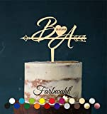 Cake Topper, Tortenstecker, Individuell - Tortefigur Acryl, Tortenständer - Farbwahl - Etagere Hochzeit Hochzeitstorte