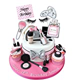 Regendeko Happy Birthday Lady Thema Mädchen Kuchendekoration Cupcake Toppers Geburtstagskuchen Deko Tortendeko Schminke (Stil 1)