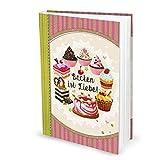 Logbuch-Verlag Rezeptbuch zum Einschreiben Geschenk Weihnachten Küche Backen Torten mit Inhaltsverzeichnis leeres Buch für Rezepte XXL DIN A4