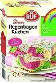 RUF Regenbogen-Kuchen • Blechkuchen in Regenbogen-Farben mit Glasur und bunten Streuseln, 6er Pack (6 x 840 g)