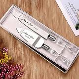 AW BRIDAL Personalisierte Hochzeitstorte Messer und Server Set - Cake Knife 13,2 Zoll, Cake Server 10,8 Zoll - Geschenk für Jubiläum, Engagement//DK001CPP07//