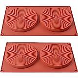 ionEgg Runde Kuchenformen, 14 cm, Silikonformen für Schichtkuchen, Käsekuchen, Regenbogenkuchen und Schokoladenkuchen, 2 Stück