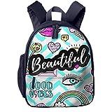 Kinderrucksack Kleinkind Jungen Mädchen Kindergartentasche Patches Regenbogenkuchen Lutscher Backpack Schultasche Rucksack